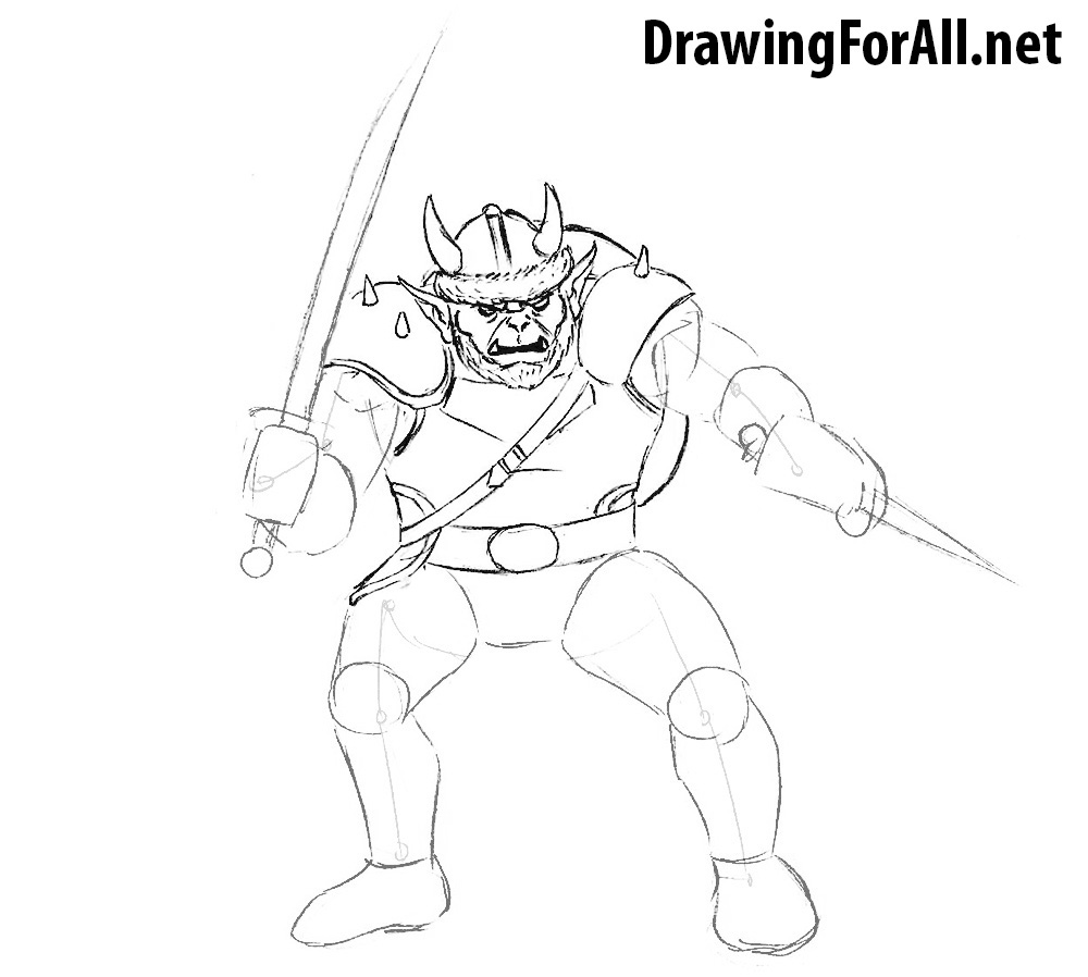 how to draw a hobgoblin from dungeons and dragons