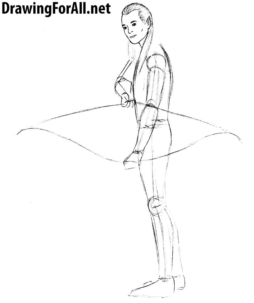 how to draw fantasy elven archer