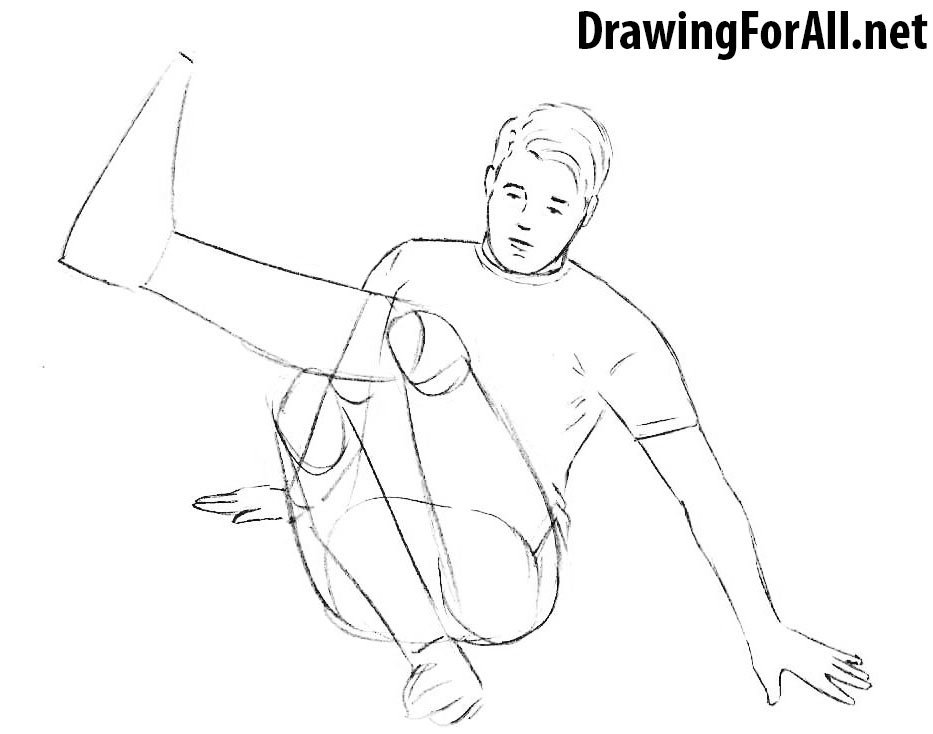 learn How to Draw a Freestyle Football Player