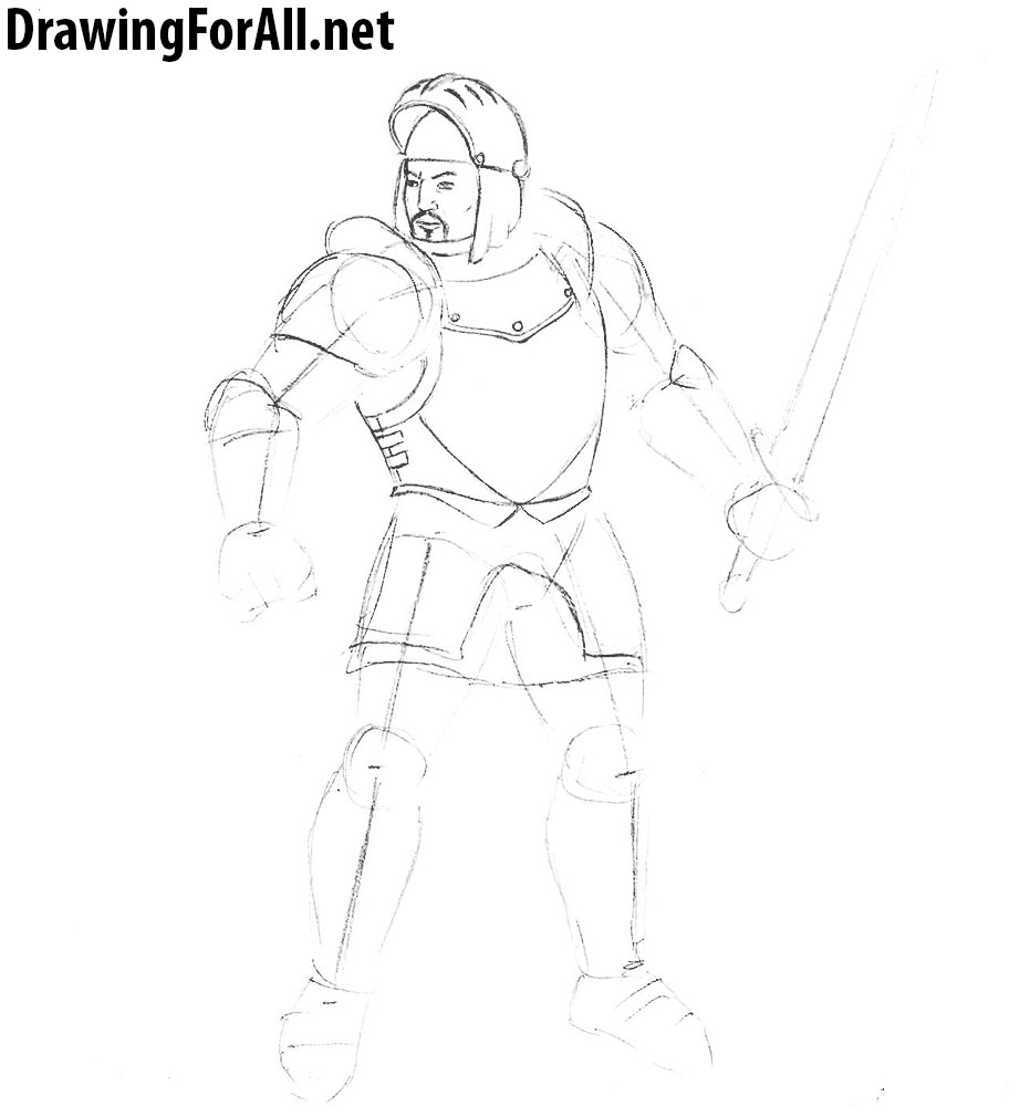 learn how to draw a knight from gothic