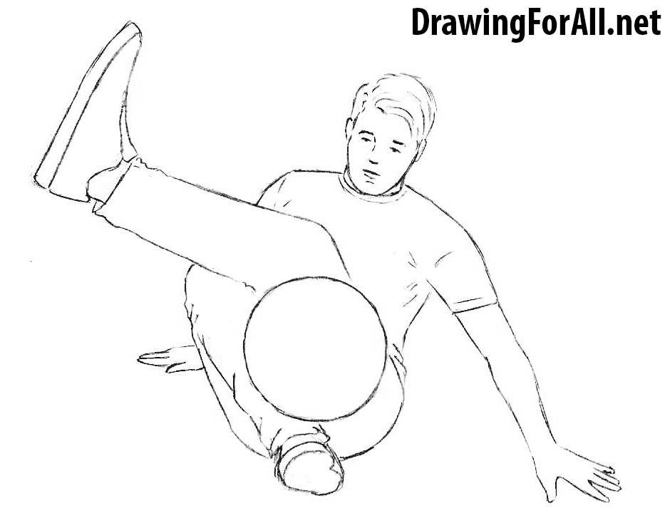 Freestyle Football Player drawing