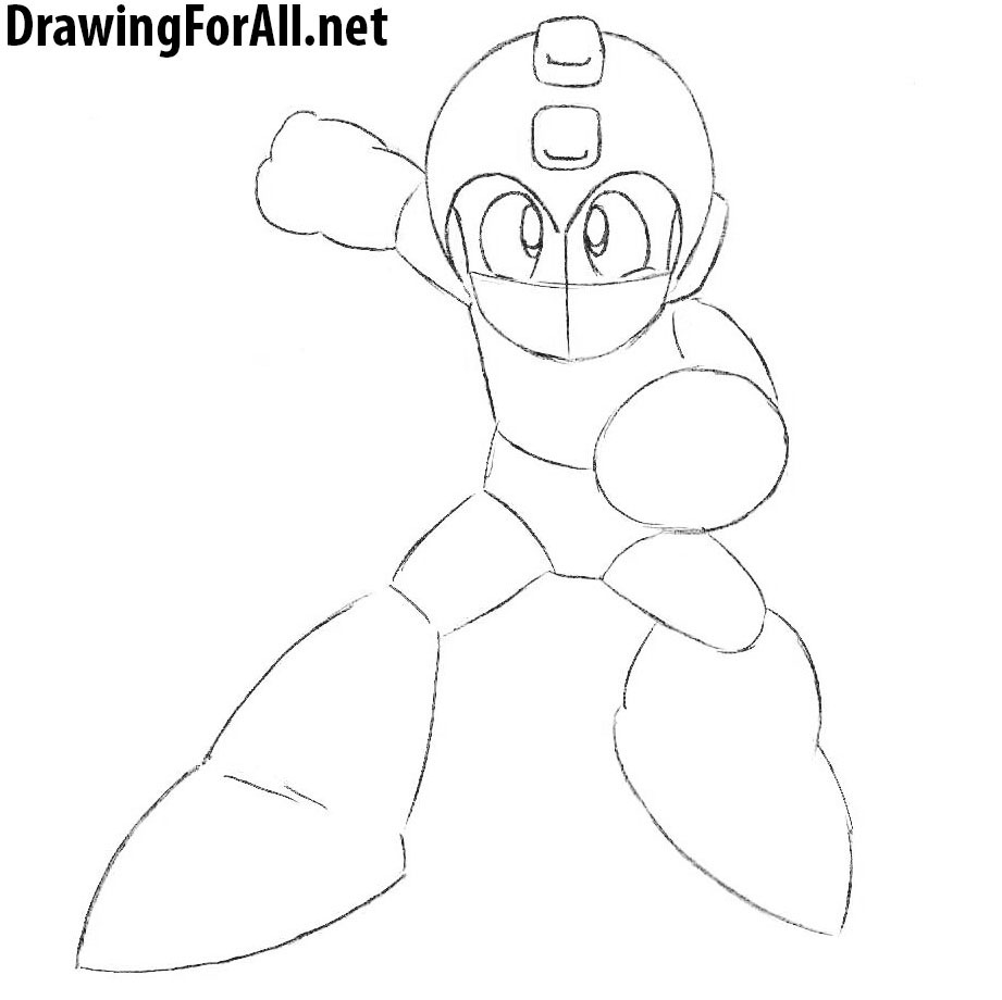 How to Draw Classic Mega Man