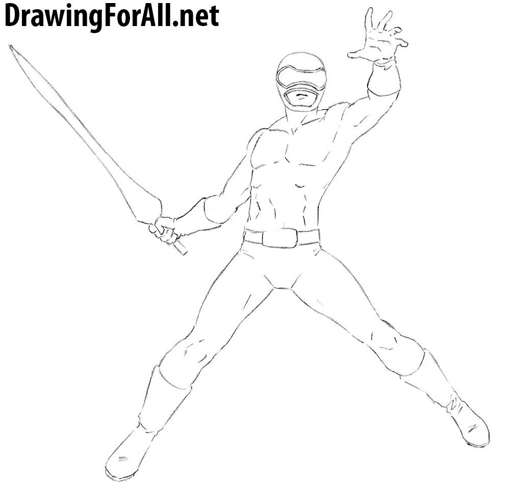 Power Ranger drawing