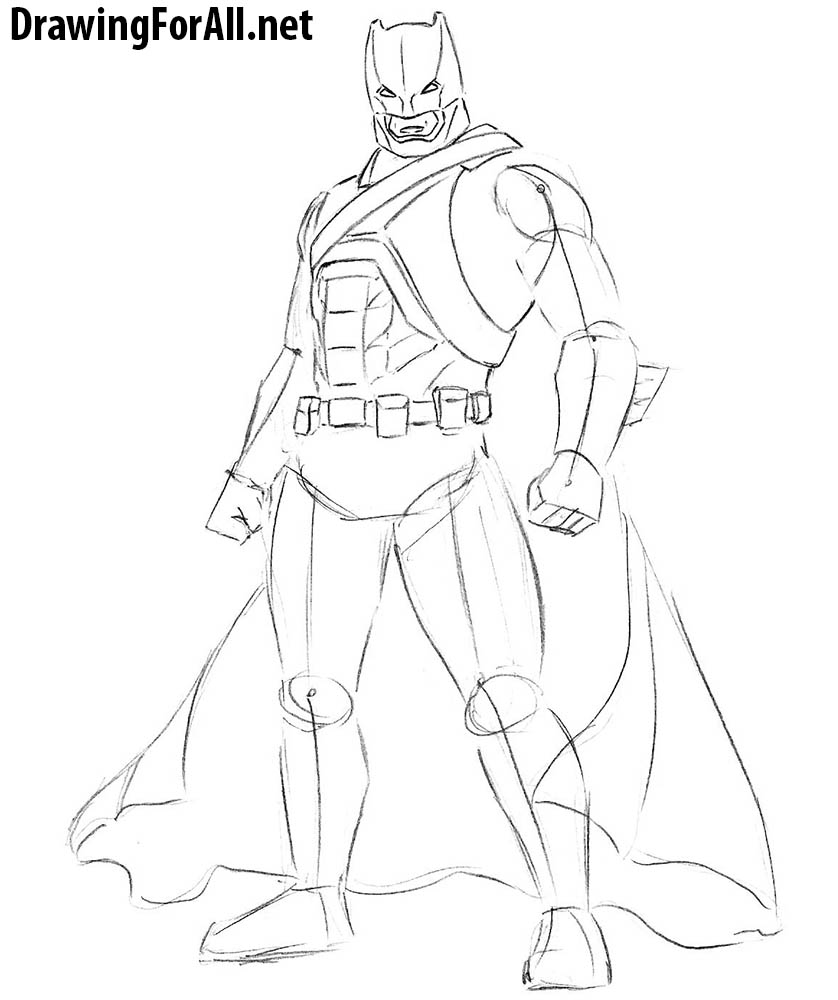 learn to draw batman
