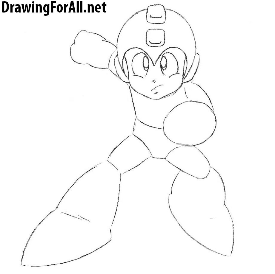 How to Draw MegaMan step by step