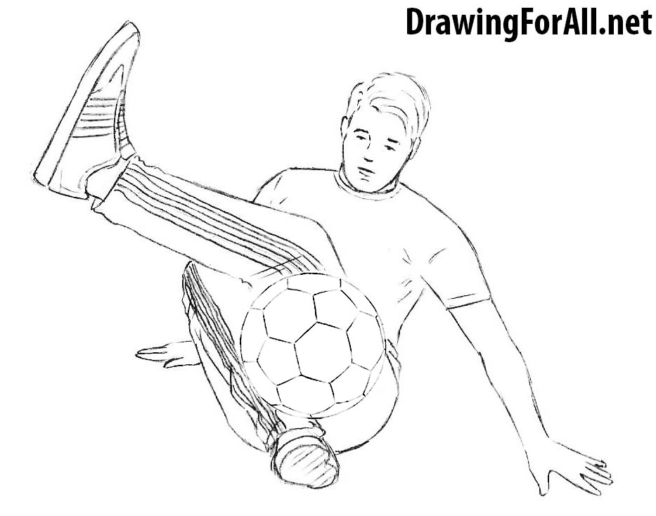 How to Draw a Freestyle Football Player