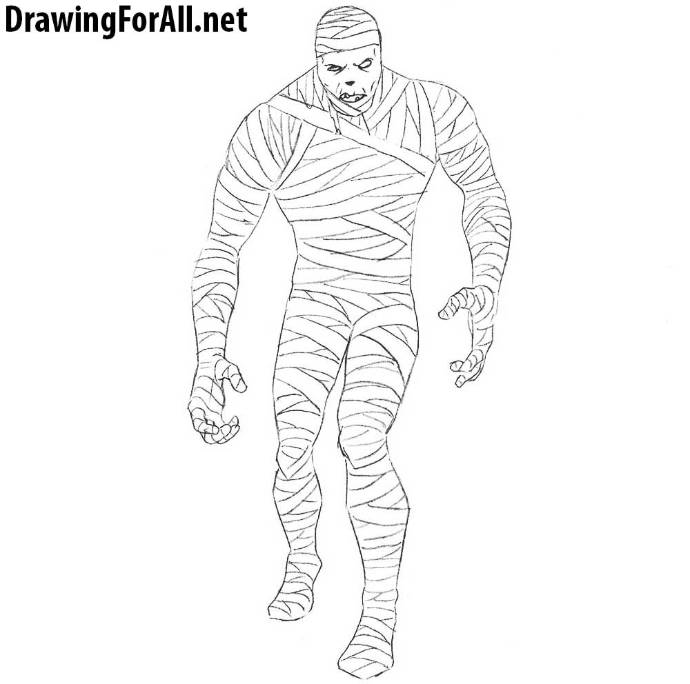how to draw mummy