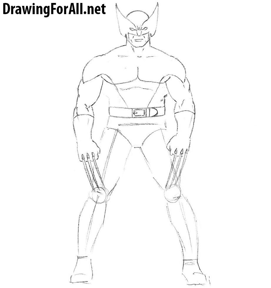 how to draw wolverine from x men