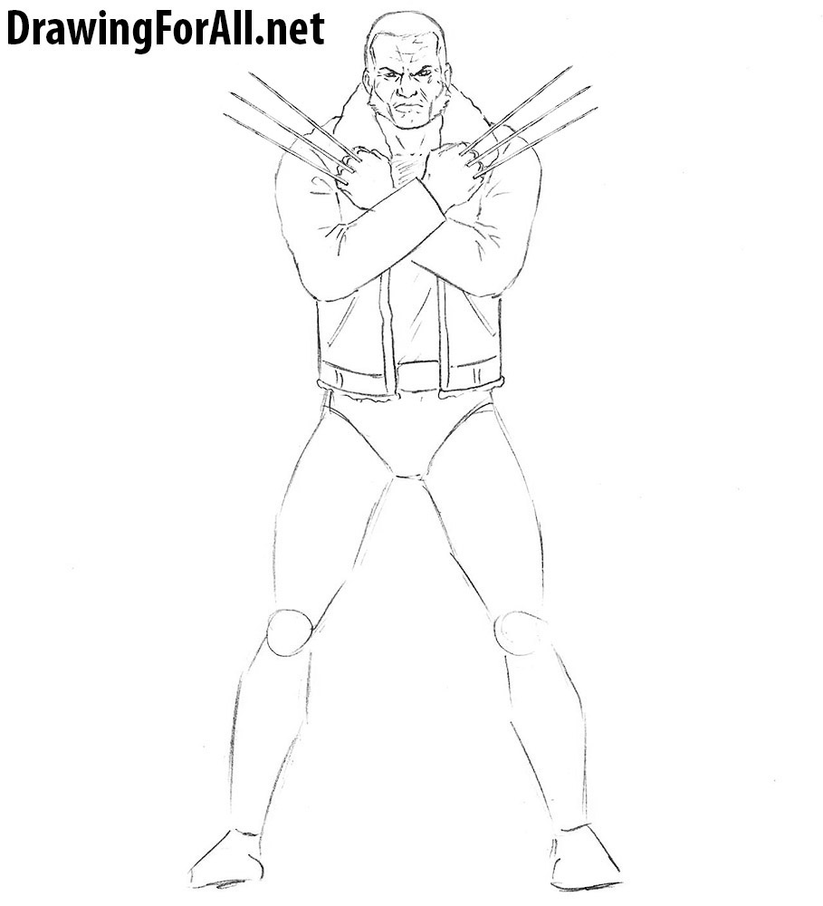 learn to draw Old Man Logan