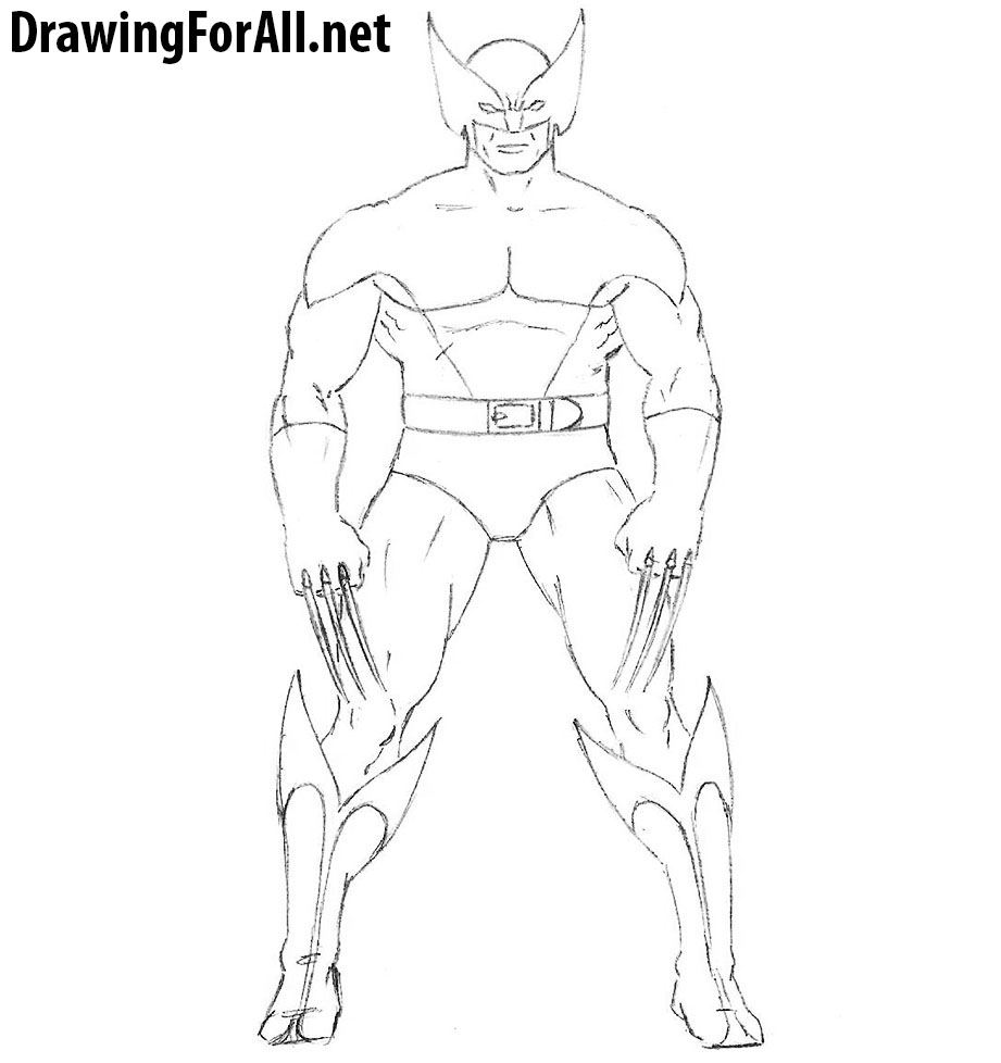how to draw wolverine in brown costume
