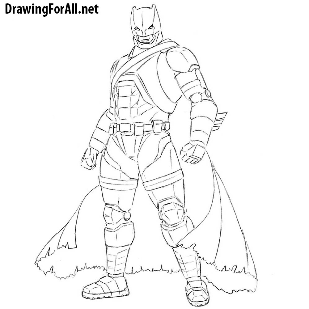 how to draw armored batman