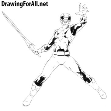 How to Draw Red Power Ranger