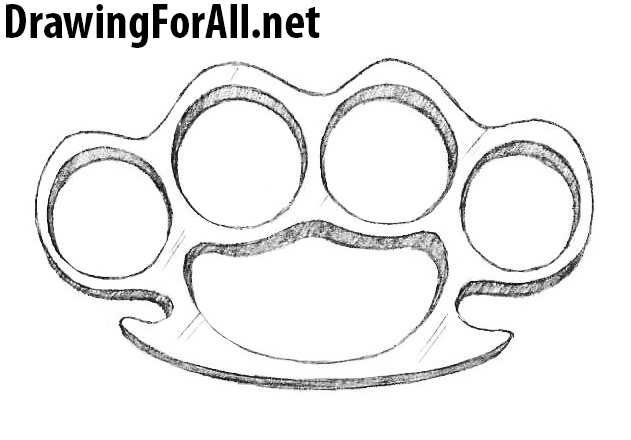 how to draw Brass knuckles