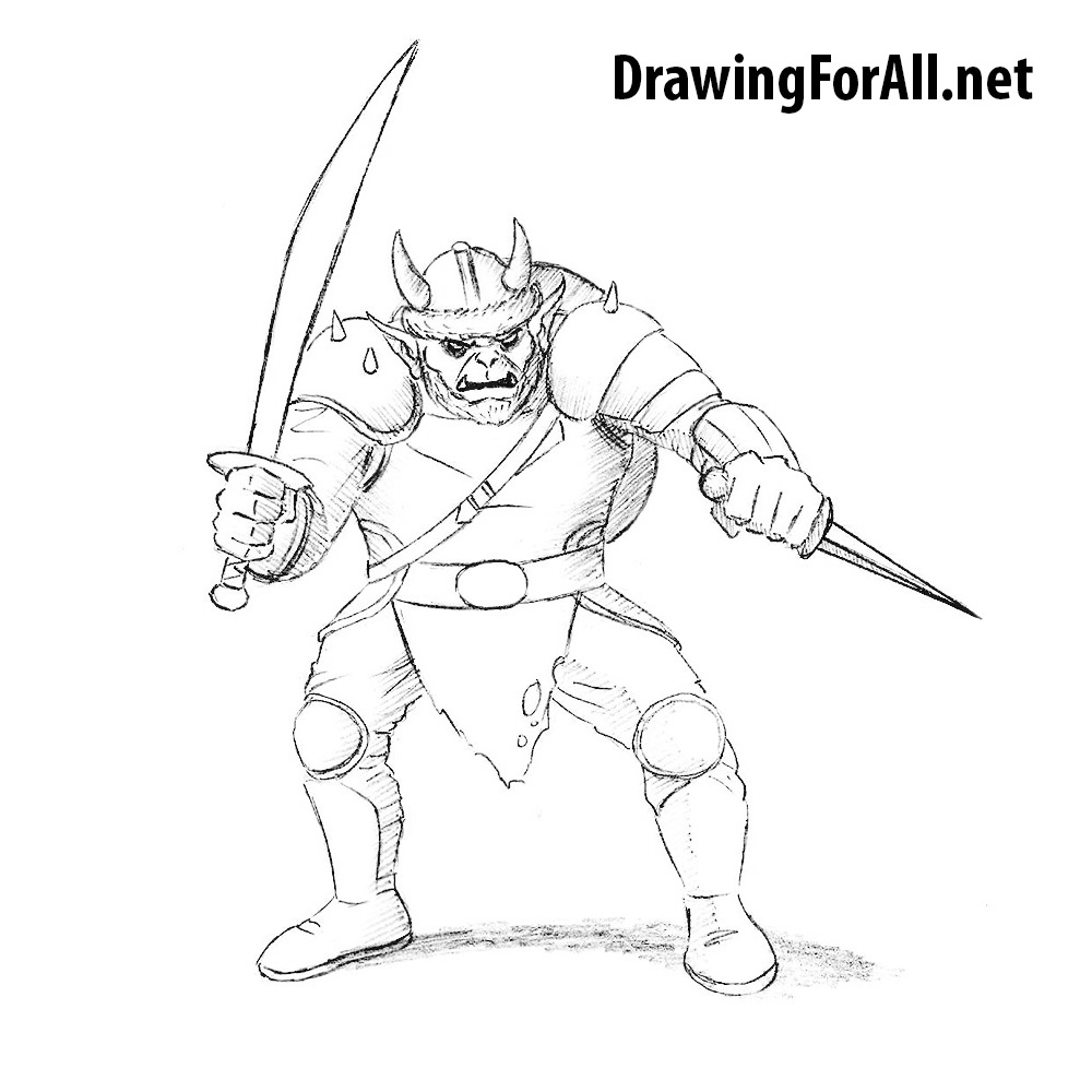 How to Draw a Hobgoblin from Fantasy