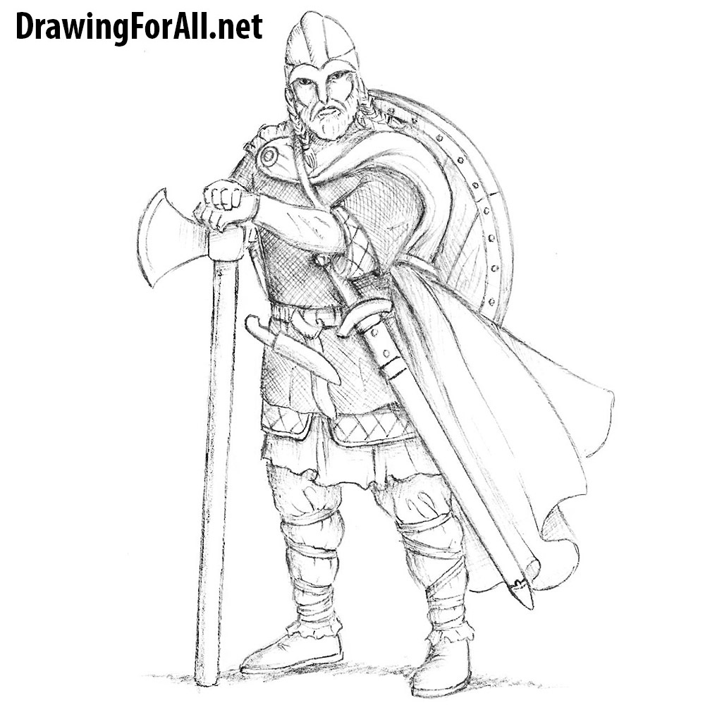 How to Draw a Realistic Viking