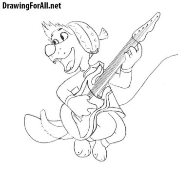 How to Draw Bodi from Rock Dog