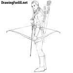 How to draw Legolas