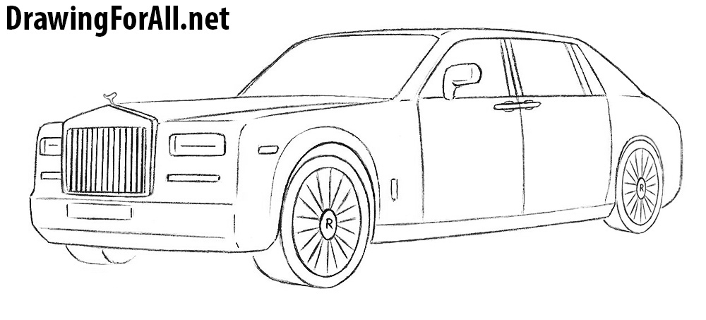 How to Draw a Rolls-Royce Phantom