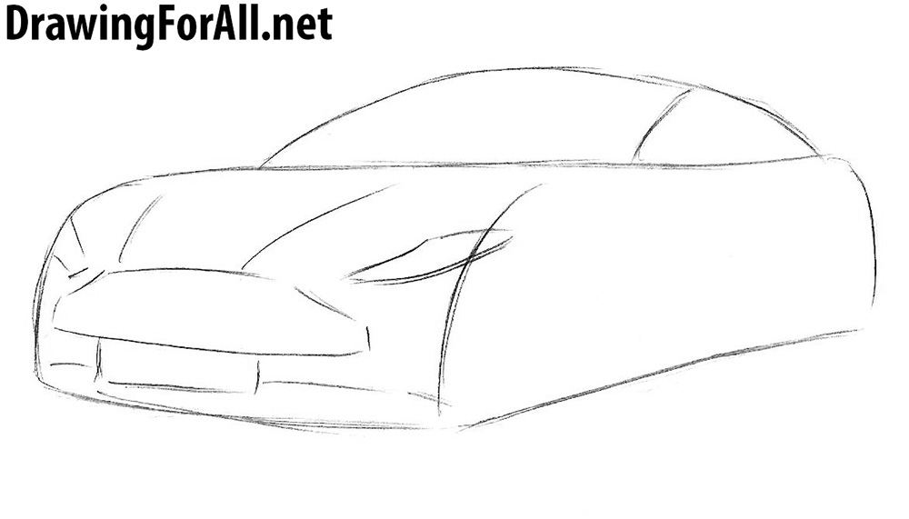 how to draw an aston martin step by step