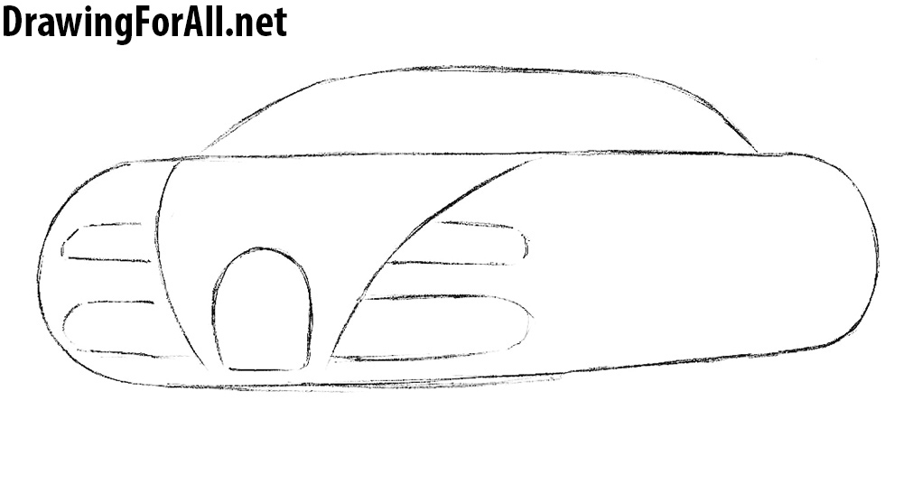 how to draw sports cars