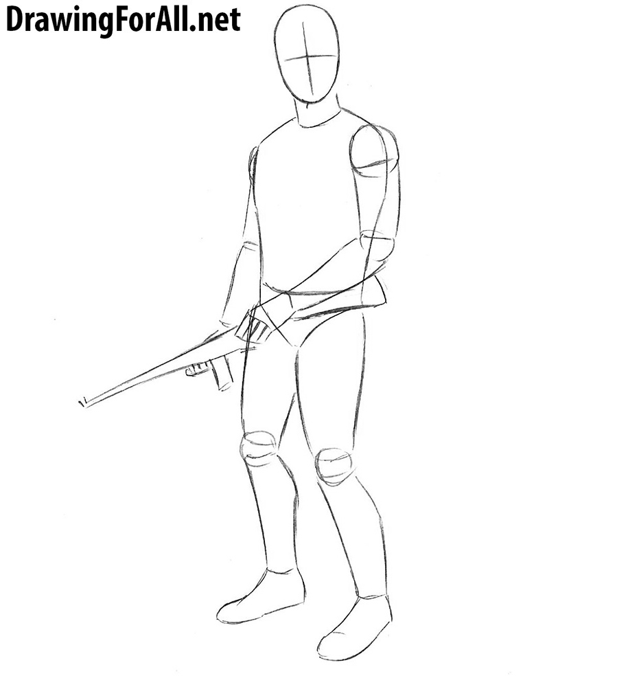 learn to draw the vault dweller