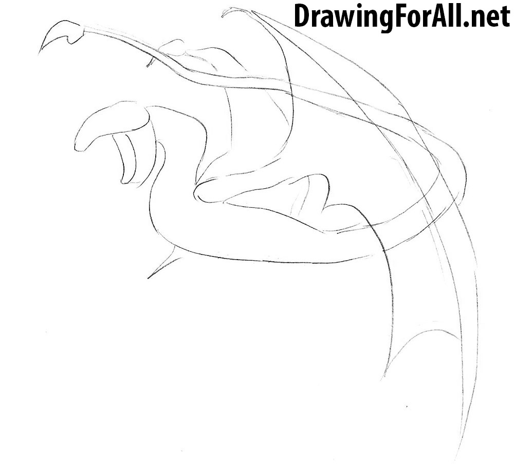 learn how to draw a wyvern