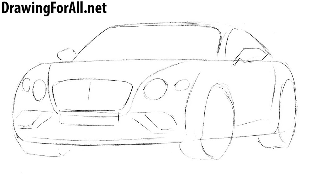learn to draw a bentley continental