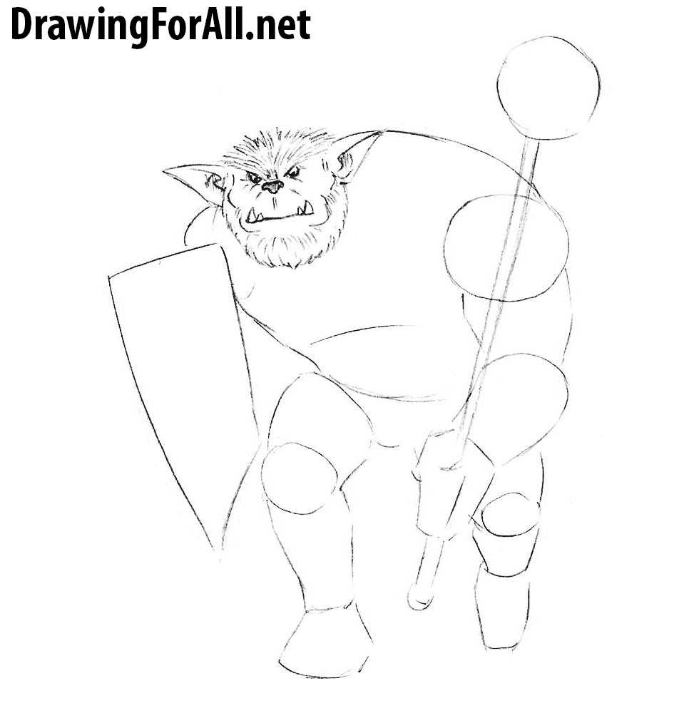 How to Draw a monster from dungeons and dragons