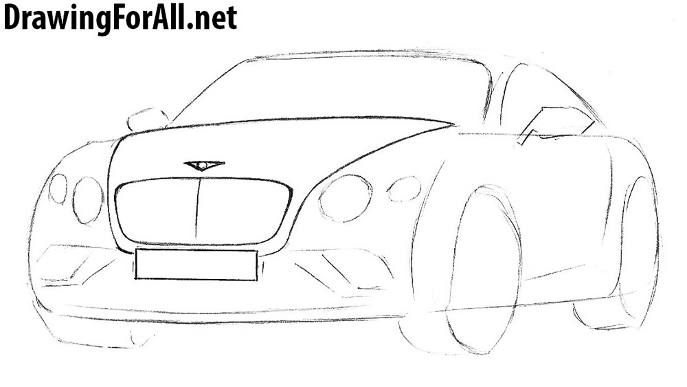 how to draw a bentley