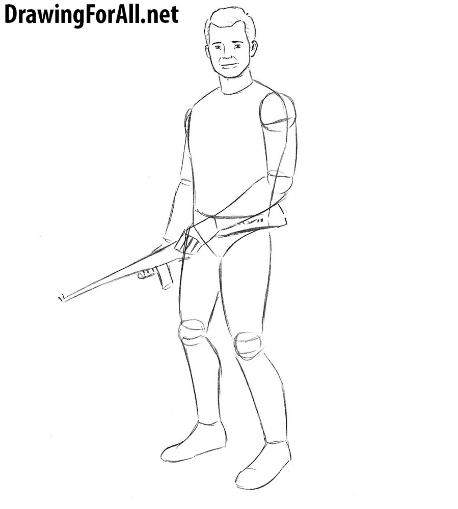 how to draw vault dweller