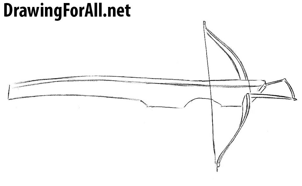 learn how to draw a crossbow
