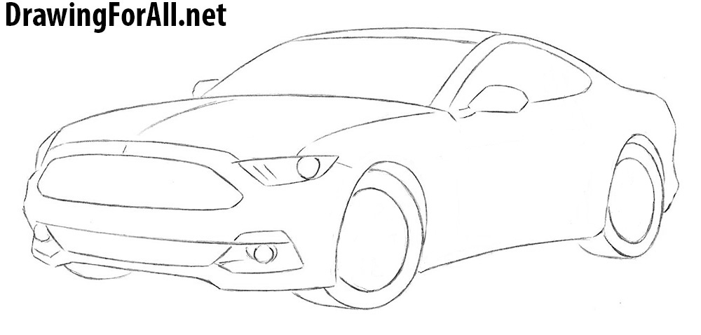learn how to draw a ford mustang