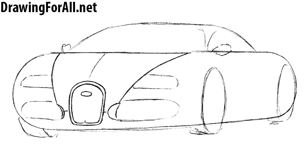 learn to draw a Bugatti Veyron