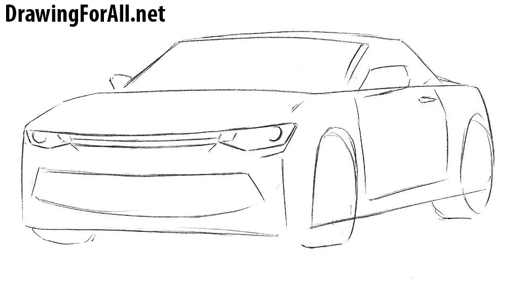 learn to draw a camaro