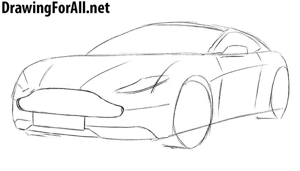 learn to draw an aston martin