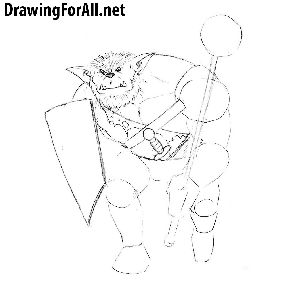 How to Draw a Bugbear from dungeons and dragons