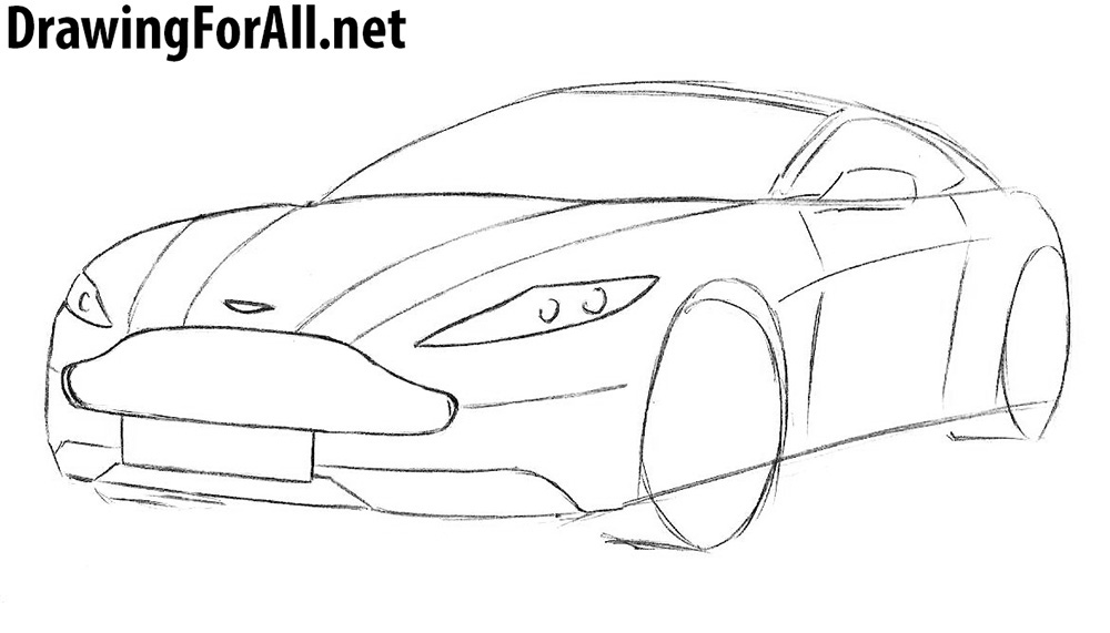 how to draw a aston martin vulcan step by step