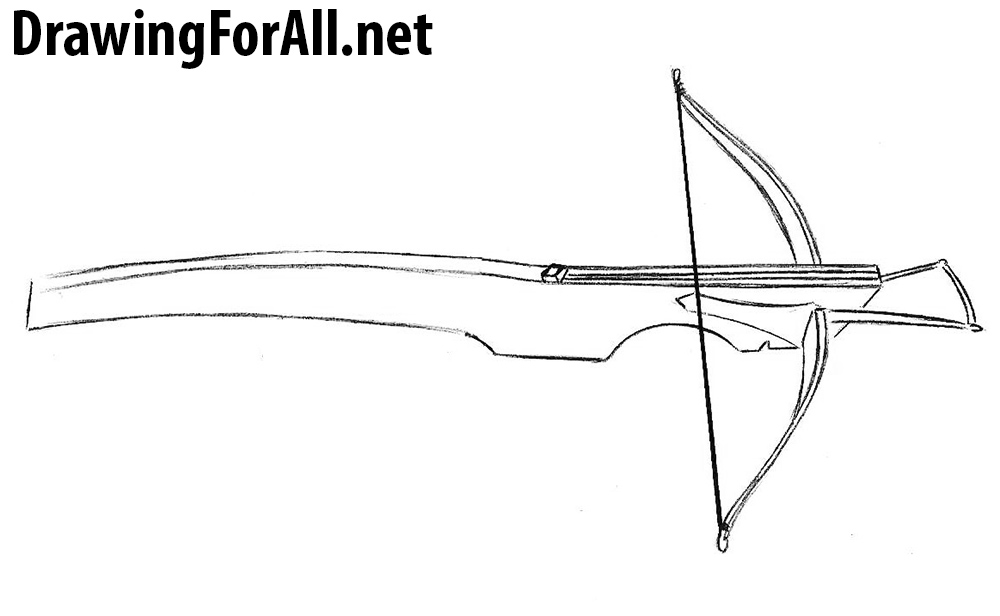crossbow drawing