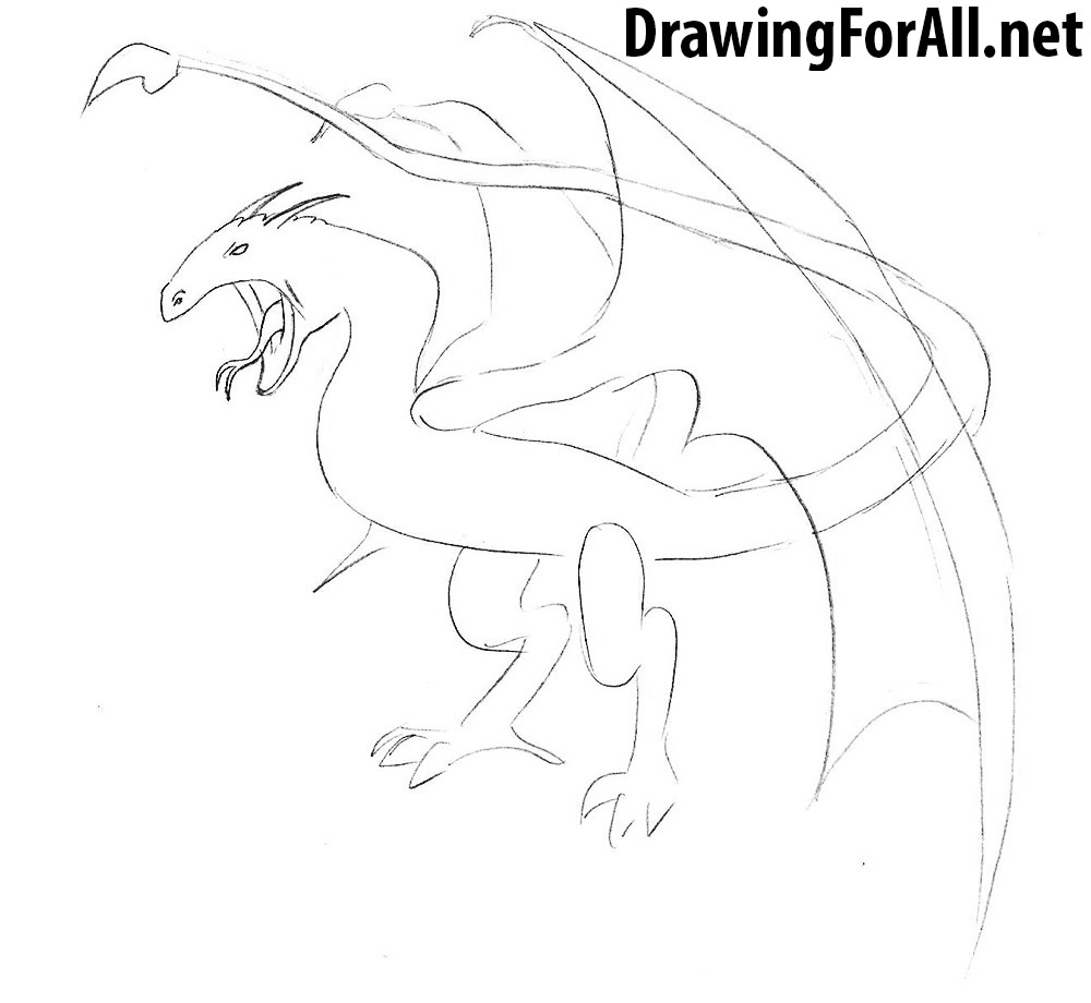 How To Draw A Wyvern Drawingforall