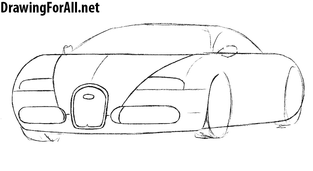 how to draw a Bugatti Veyron step by step