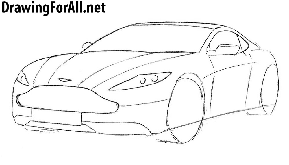 how to draw an aston martin db