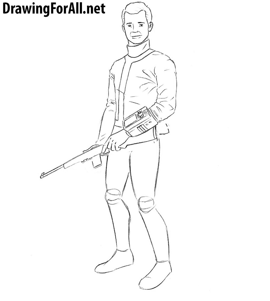 how to draw fallout character