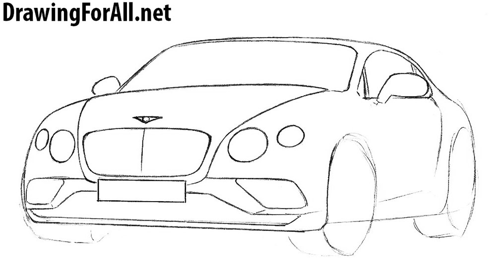 learn how to draw a bentley continental