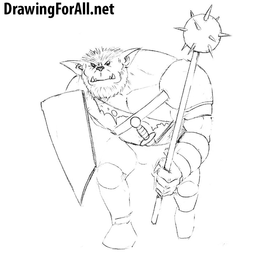learn to draw a bugbear