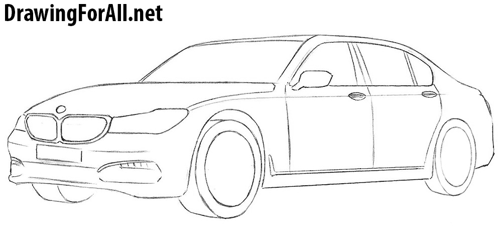 How to Draw a Bmw | DrawingForAll.net