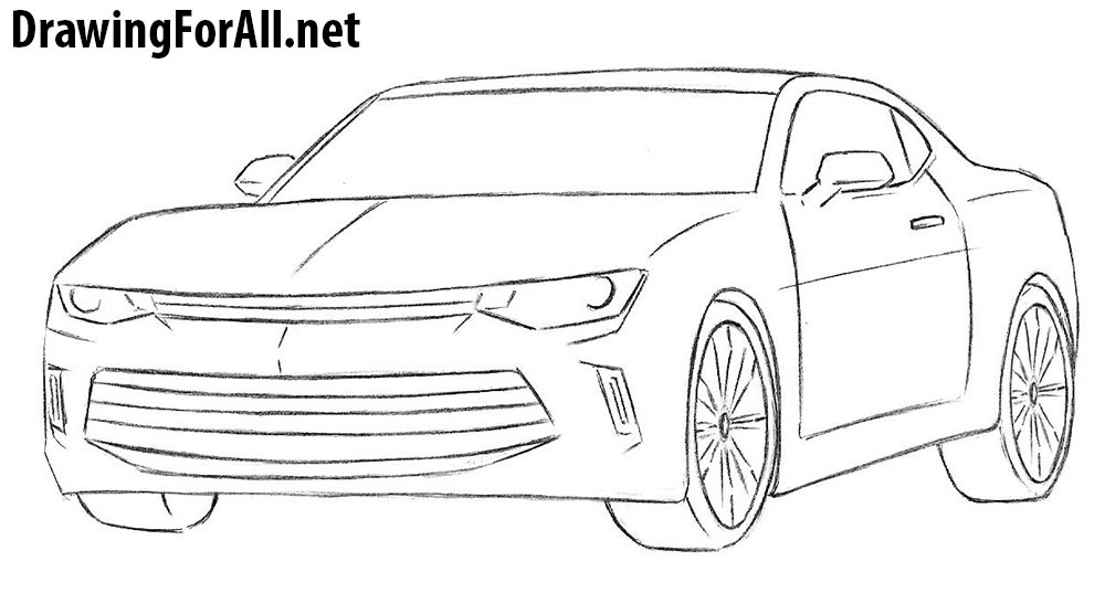 How to Draw a Chevrolet Camaro | DrawingForAll.net