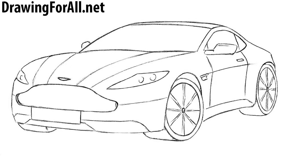 aston martin drawing