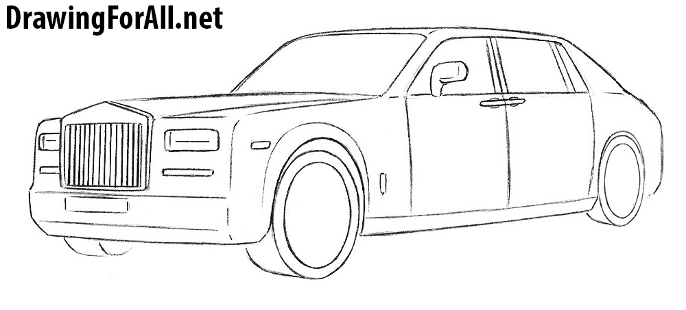Rolls-Royce Phantom drawing