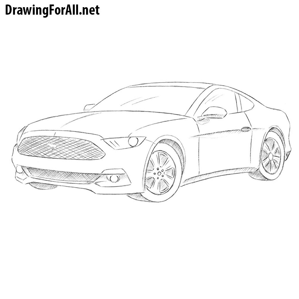 how to draw a ford mustang drawingforall net