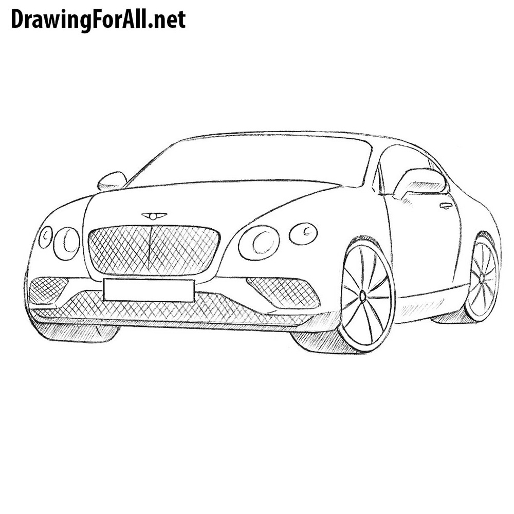 Line Drawing How To : How to draw a bentley drawingforall
